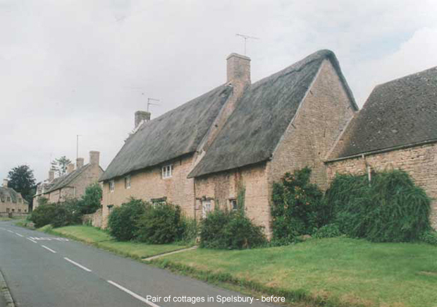Pair of cottages in Spelsbury - before